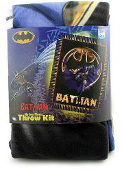 Batman No Sew Fleece Throw Blanket Kit