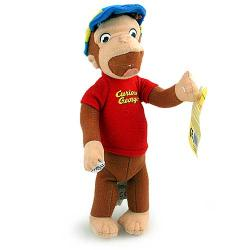 Curious George Baseball Beanie Doll [9 inches]