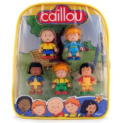 Caillou Figures in Backpack [5 Figures - 2.5 inches]