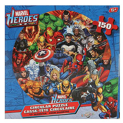 You are here home category marvel heroes 150 pc circular puzzle