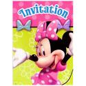 Minnie Mouse Party Invitations [8 Per Pack]