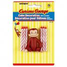Curious George Cake Decorator with 6 Candles