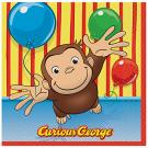 Curious George Luncheon Napkins [16 Per Pack]