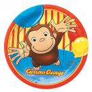 Curious George 7 Plates [8 Per Pack]