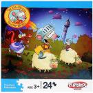 Toopy and Binoo 24-Piece Puzzle - [Riding Sheep]