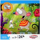 Toopy and Binoo 24-Piece Puzzle - [In the Garden]