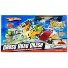 Hot Wheels Crossroad Crash Track Set w/ 2 Crashers Cars