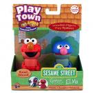 Play Town Sesame Street Wood Figures - Elmo and Grover