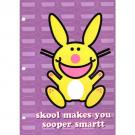 It's Happy Bunny School Folder - 'skool makes you sooper smart'