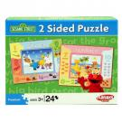 Sesame Street 2 Sided Puzzle - [Summer and Winter - 24 Pieces]