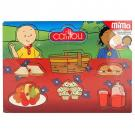 Caillou Food Wood Peg Puzzle