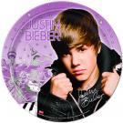 Justin Bieber 9 Inch Plates [8 Per Pack]