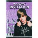 Justin Bieber Invitations [8 Per Pack]
