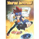Beyblade Metal Fusion Party Invitations [8 Per Pack]