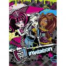 Monster High Invitations [8 Per Pack]