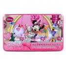 Minnie Mouse Bow-tique Puzzle Set [3 in 1 Puzzle]