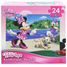 Minnie Mouse Bow-tique Lenticular Puzzle [24 Pieces - Walk the Dog]