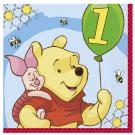 Winnie the Pooh 1st Birthday Luncheon Napkins [Pack of 16]