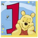 Winnie the Pooh 1st Birthday Beverage Napkins [Pack of 16]