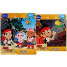Jake and the Nerve Land Pirates 2-Puzzle Pack [24 Pieces Each]