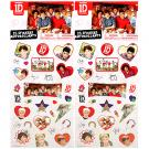 1D One Direction Sticker Sheets [2-Pack - 25 Stickers Each]
