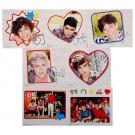 1D One Direction Heart Sticker Sheets [6-Pack - 7 Stickers Each]