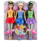 Disney Princess Ballerina Set of 3 [Belle, Cinderella, Tiana]