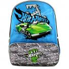 Hot Wheels Deluxe School Bag [Blue/Green]