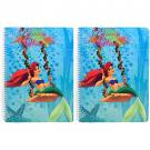 Disney Ariel the Mermaid 50-Page Spiral Notebook [2 Pack]