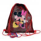 Mickey and Minnie Mesh Drawstring Tote Bag