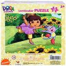 Dora the Explorer Lenticular Puzzle [24 PCS - Dora and Boots - Flowers]