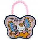Hello Kitty Butterfly Tin Purse / Lunch Box [Style C]