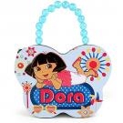Dora the Explorer Butterfly Tin Purse / Lunch Box [Baby Blue]