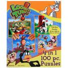 Looney Tunes 4 in 1 - 100 Piece Puzzles