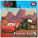 Cars Lenticular Puzzle - Lightning McQueen and Mater [24 Pieces]
